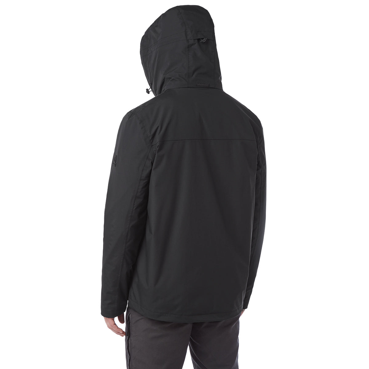 Gambit Mens Waterproof 3-In-1 Jacket - Black image 4