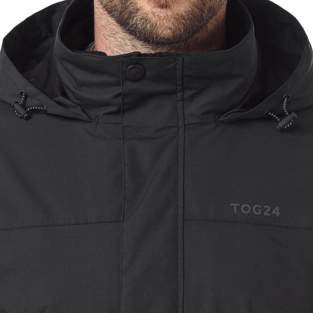 Gambit Mens Waterproof 3-In-1 Jacket - Black image 5