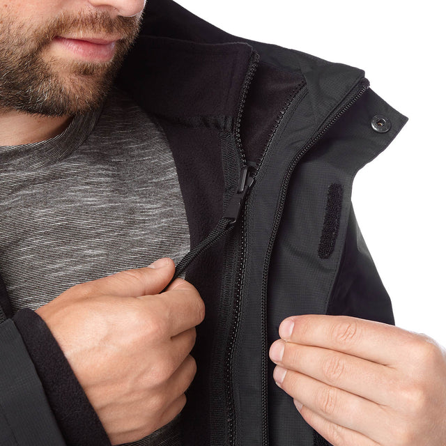Gambit Mens Waterproof 3-In-1 Jacket - Black image 6