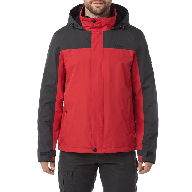 Gambit Mens Waterproof 3-In-1 Jacket - Chilli/Charcoal image 2