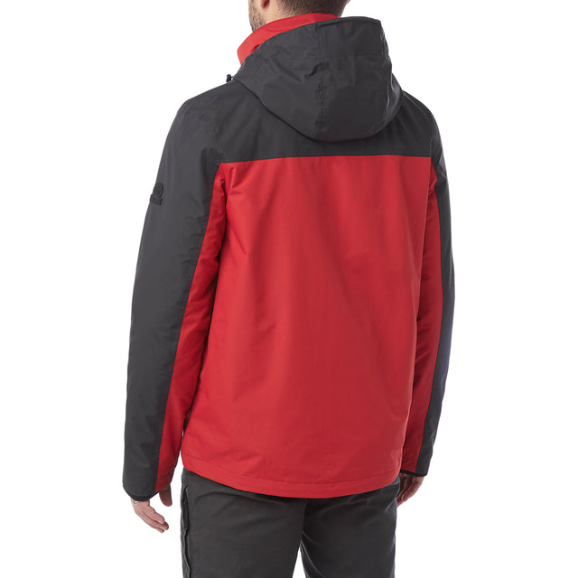 Gambit Mens Waterproof 3-In-1 Jacket - Chilli/Charcoal image 3
