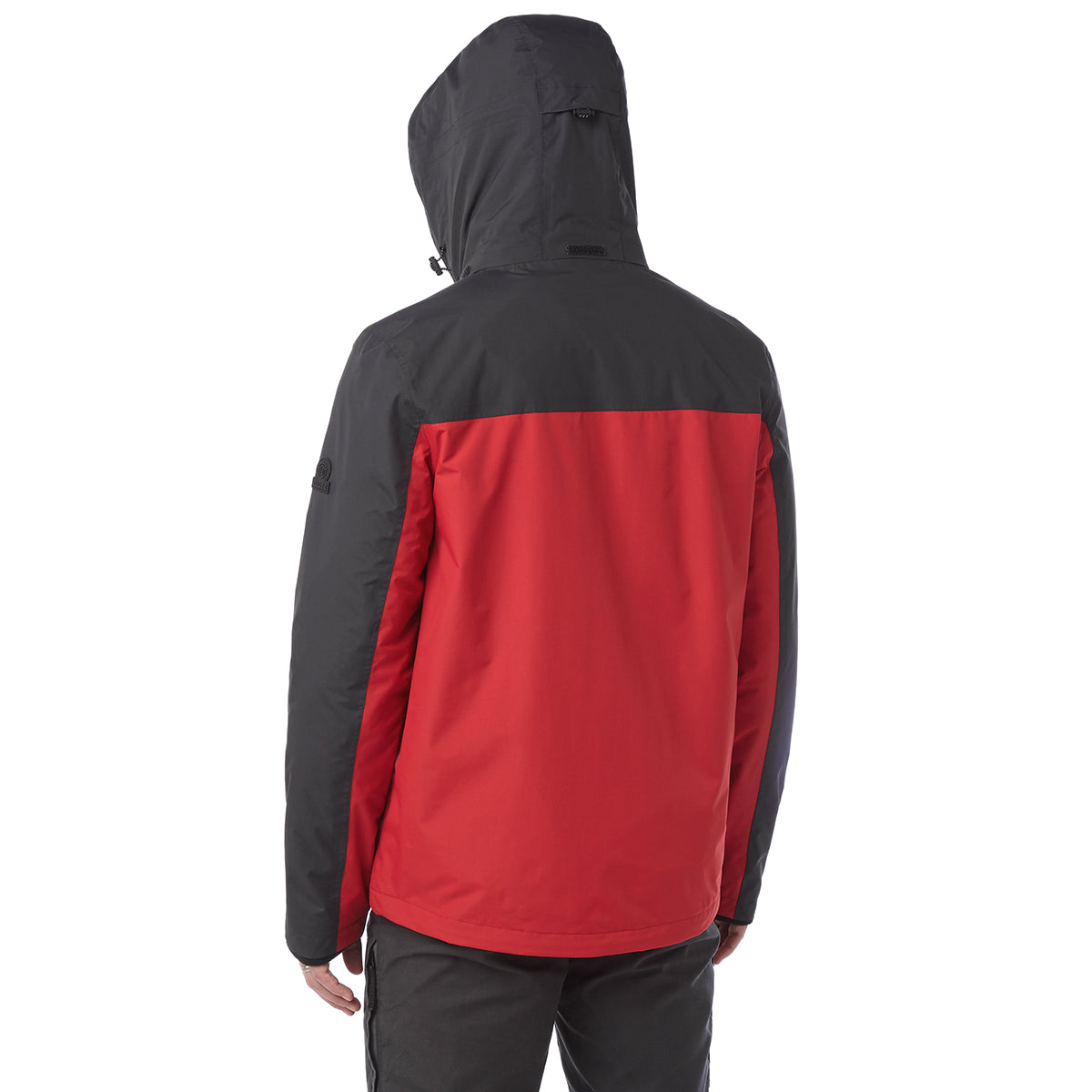 Gambit Mens Waterproof 3-In-1 Jacket - Chilli/Charcoal image 4