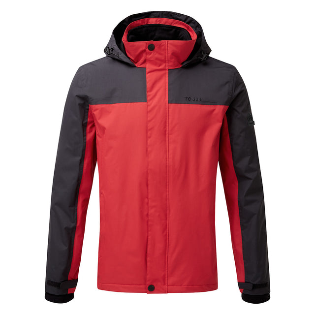 Gambit Mens Waterproof 3-In-1 Jacket - Chilli/Charcoal image 1