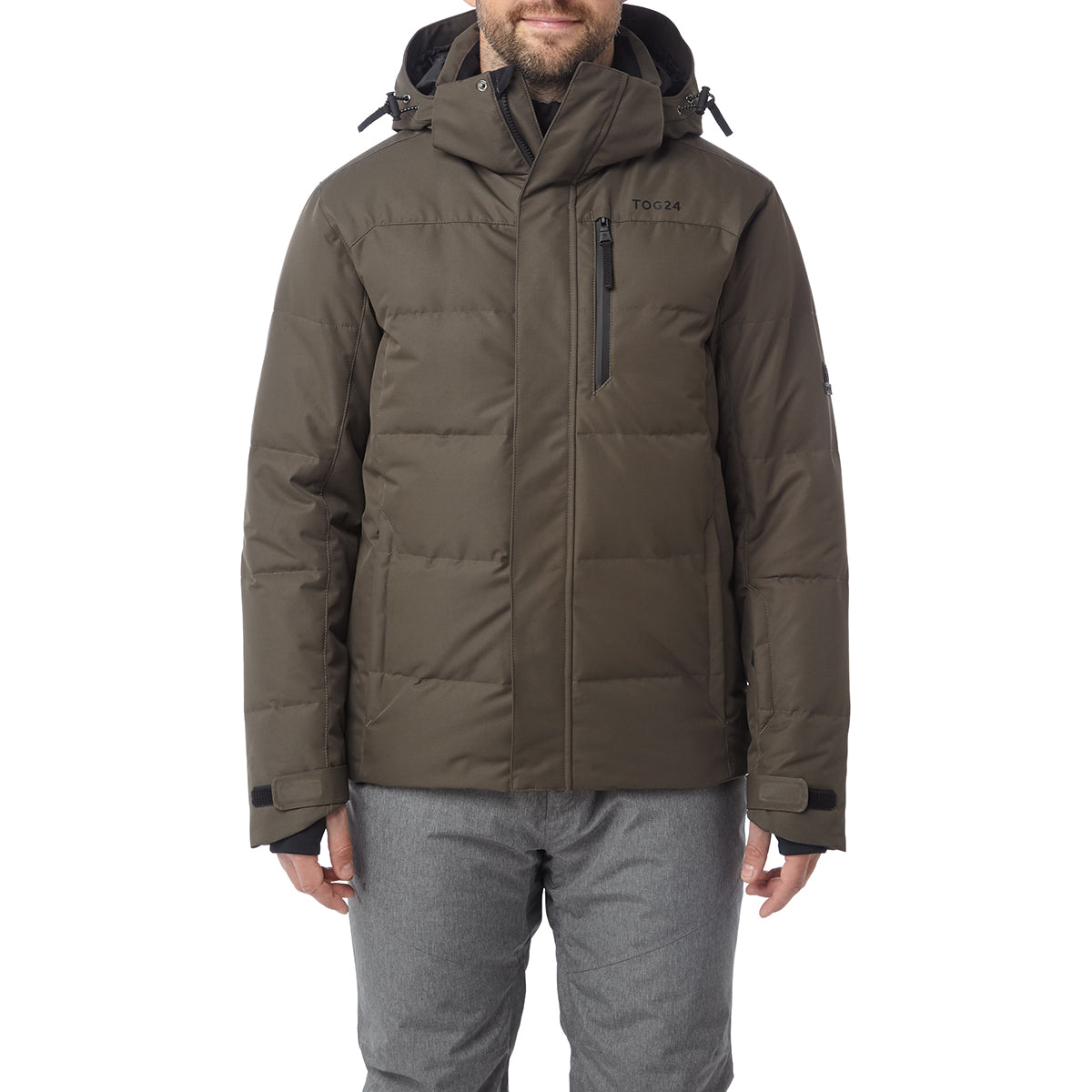 Gunby Mens Down Filled Ski Jacket - Dark Khaki