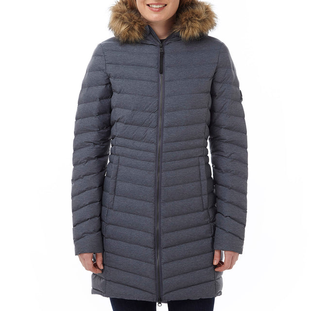 Harlington Womens TCZ Thermal Jacket - Navy Marl image 2