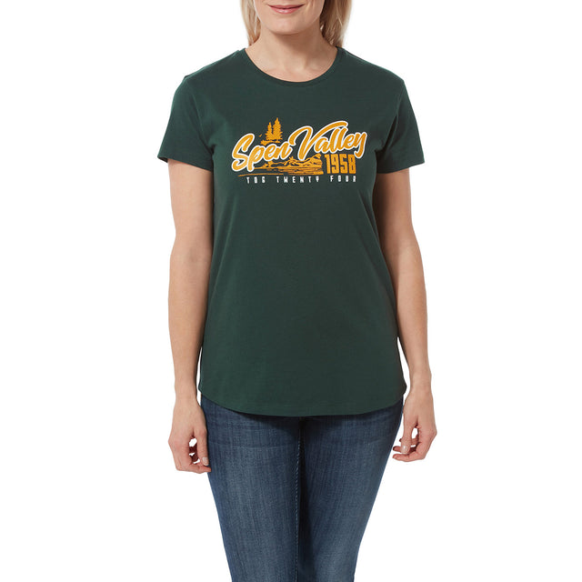 Harome Womens Graphic T-Shirt Valley - Forest image 2