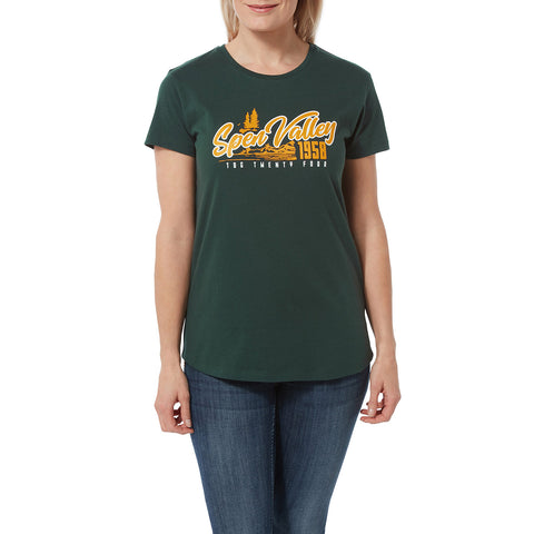 Harome Womens Graphic T-Shirt Valley - Forest
