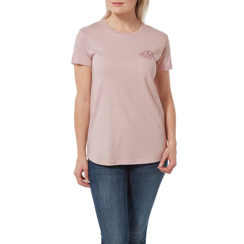 Harome Womens Graphic T-Shirt Diamond - Chalk Pink Marl