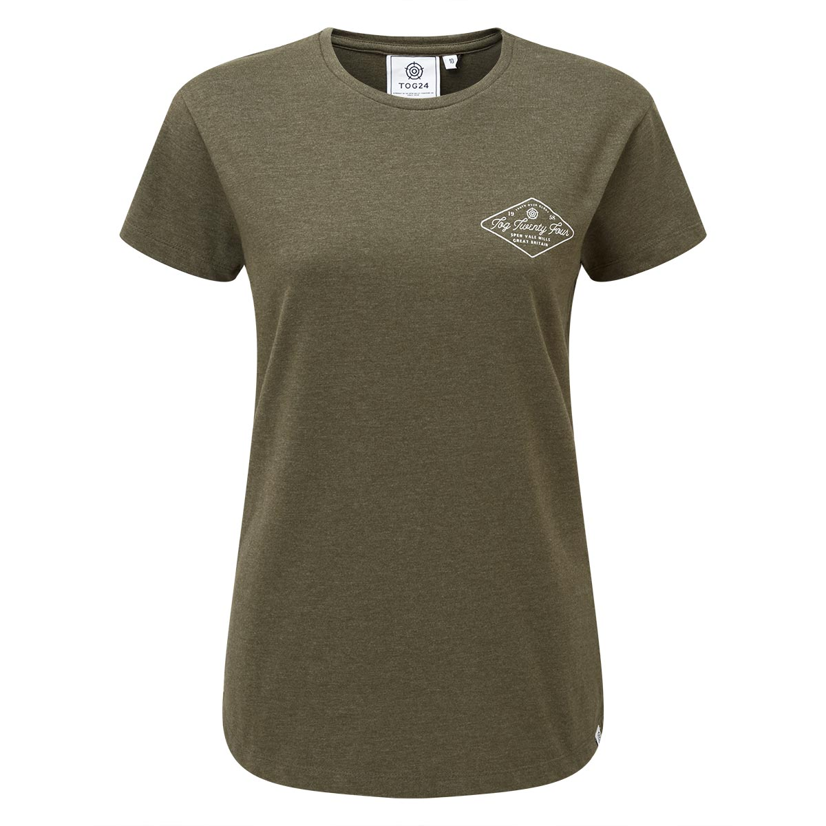 Harome Womens Graphic T-Shirt Diamond - Ivy Green Marl