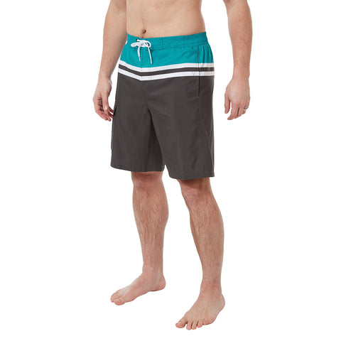 Harrison Mens Swimshorts - Charcoal Blue Jewel