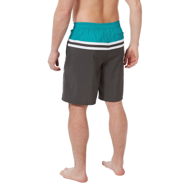Harrison Mens Boardshorts - Charcoal/Blue Jewel image 3