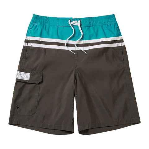 Harrison Mens Boardshorts - Charcoal/Blue Jewel