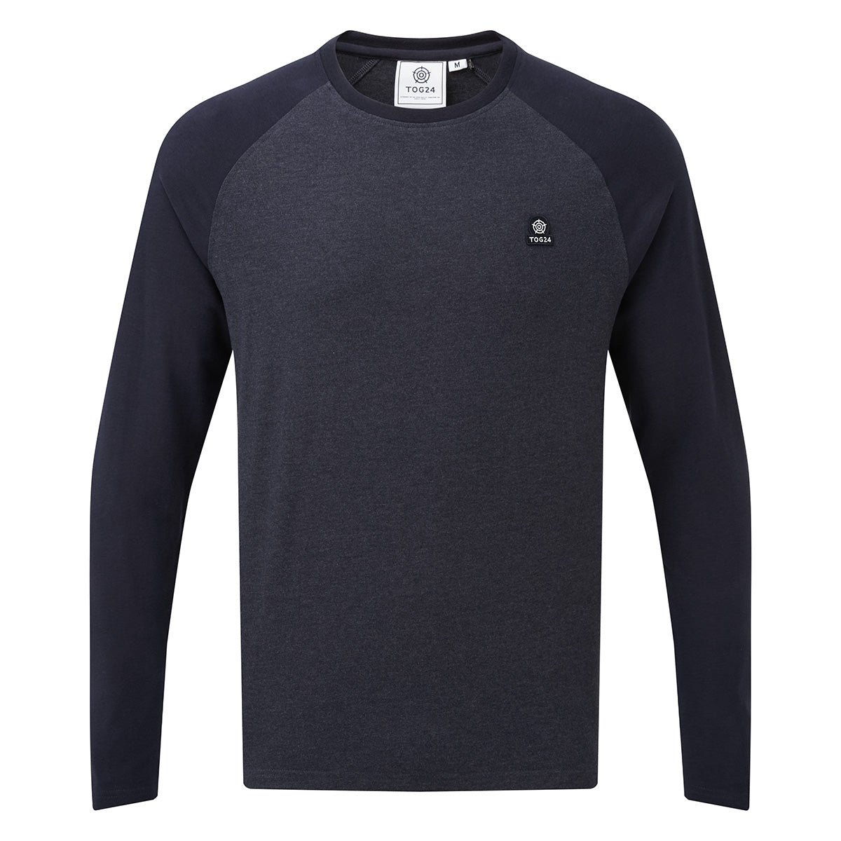 Haxby Mens Long Sleeve Raglan T-Shirt - Navy Marl/Navy image 4