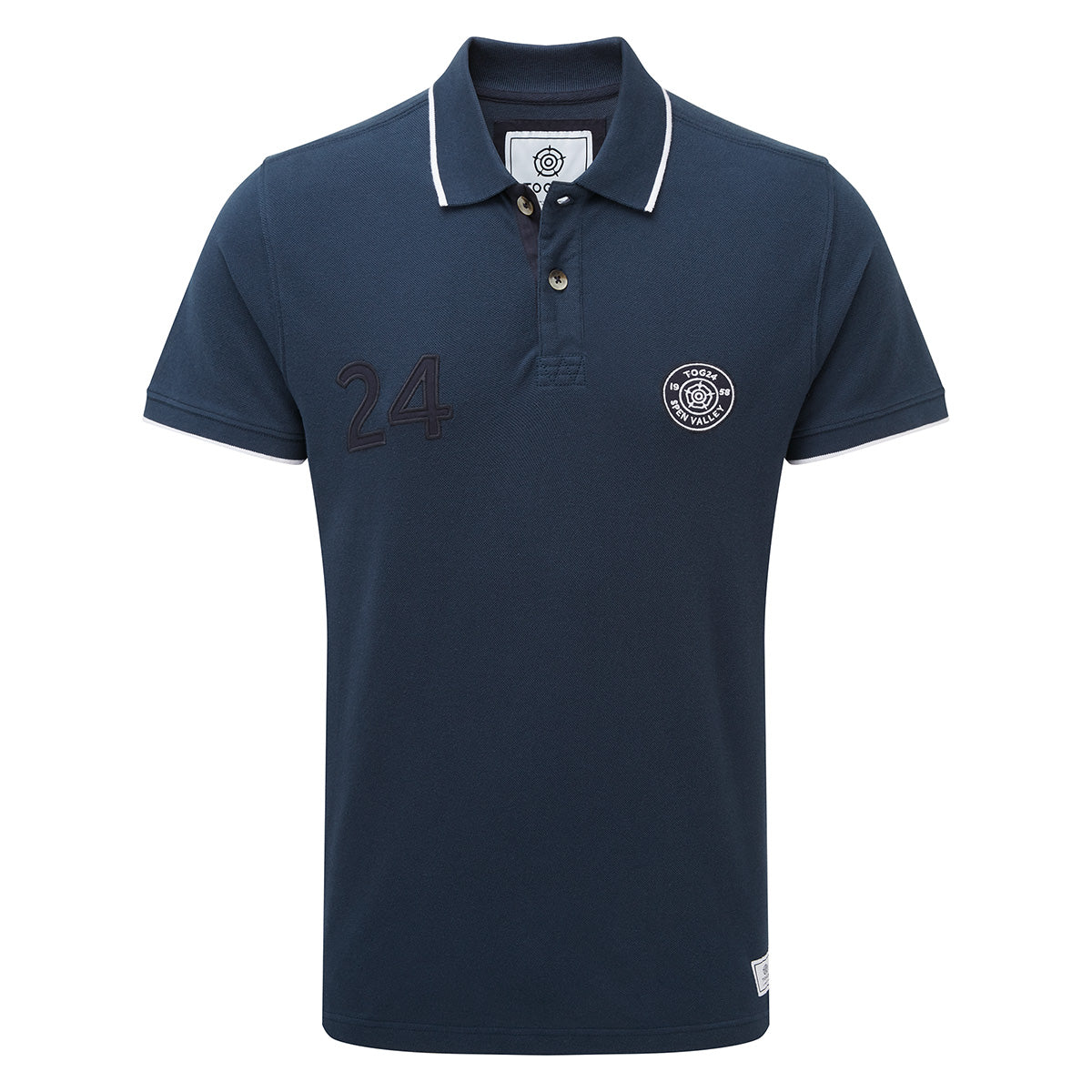 Hebble Mens Pique Polo Shirt - Naval Blue image 4