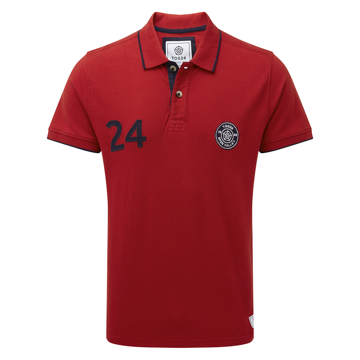 Hebble Mens Pique Polo Shirt - Chilli Red image 4