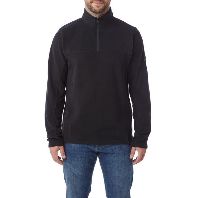Hecky Mens Fleece Zipneck - Black image 2