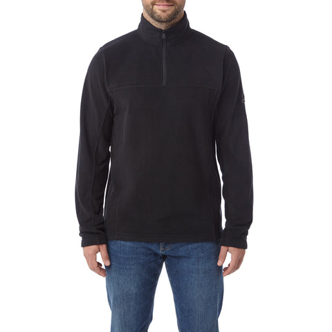 Hecky Mens Fleece Zipneck - Black