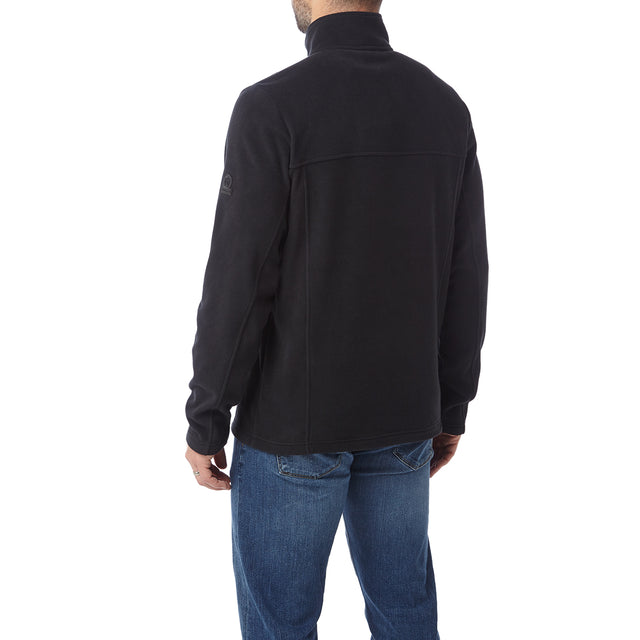 Hecky Mens Fleece Zipneck - Black image 3