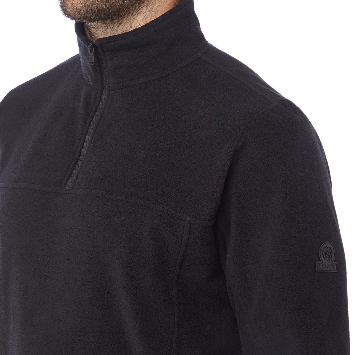 Hecky Mens Fleece Zipneck - Black image 4