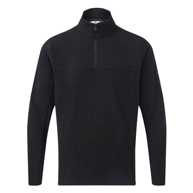 Hecky Mens Fleece Zipneck - Black image 1