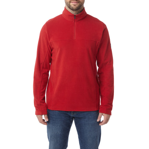 Hecky Mens Fleece Zipneck - Chilli