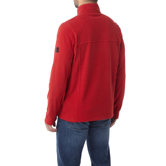 Hecky Mens Fleece Zipneck - Chilli image 3