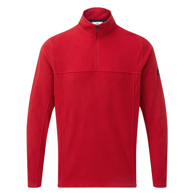 Hecky Mens Fleece Zipneck - Chilli image 1