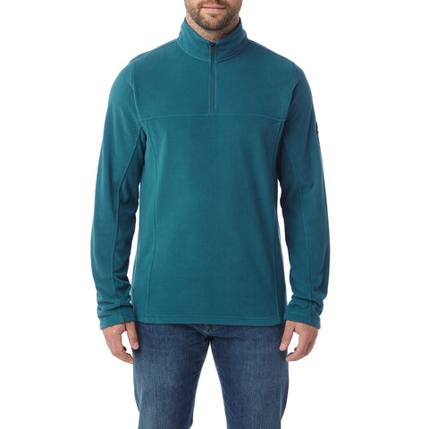 Hecky Mens Fleece Zipneck - Lagoon