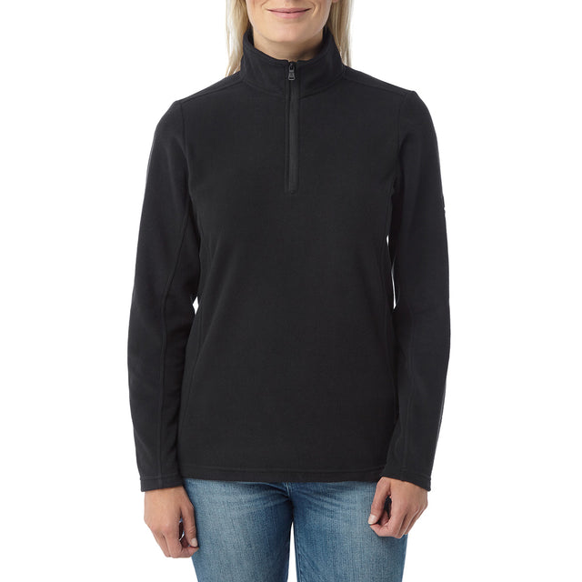 Hecky Womens Fleece Zipneck - Black image 2