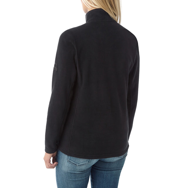 Hecky Womens Fleece Zipneck - Black image 3