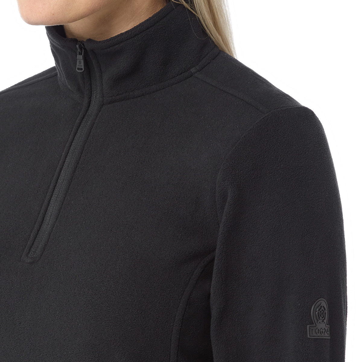 Hecky Womens Fleece Zipneck - Black image 4