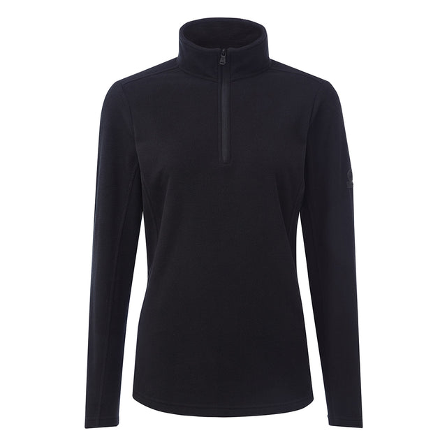 Hecky Womens Fleece Zipneck - Black image 1