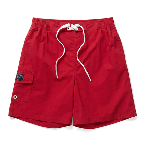 Helier Mens Swimshorts - Chilli