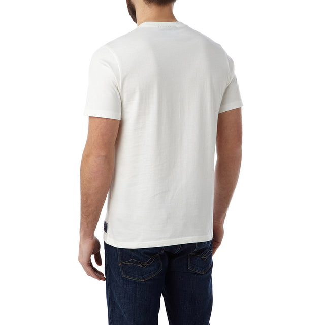 Henry Mens T-Shirt Northern Blonde - White image 3
