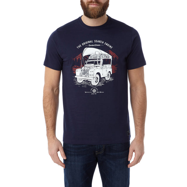 Henry Mens T-Shirt Search Engine - Navy image 2