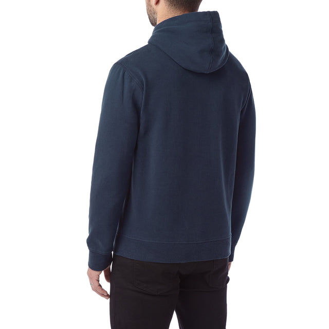 Hetton Mens Zip Hoody Diamond - Navy image 3