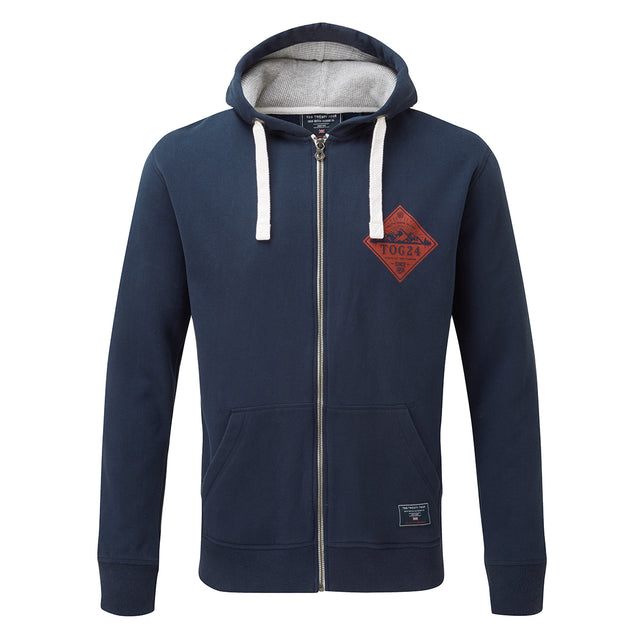 Hetton Mens Zip Hoody Diamond - Navy image 1