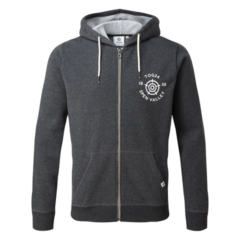 Hetton Mens Zip Hoody York - Dark Grey Marl