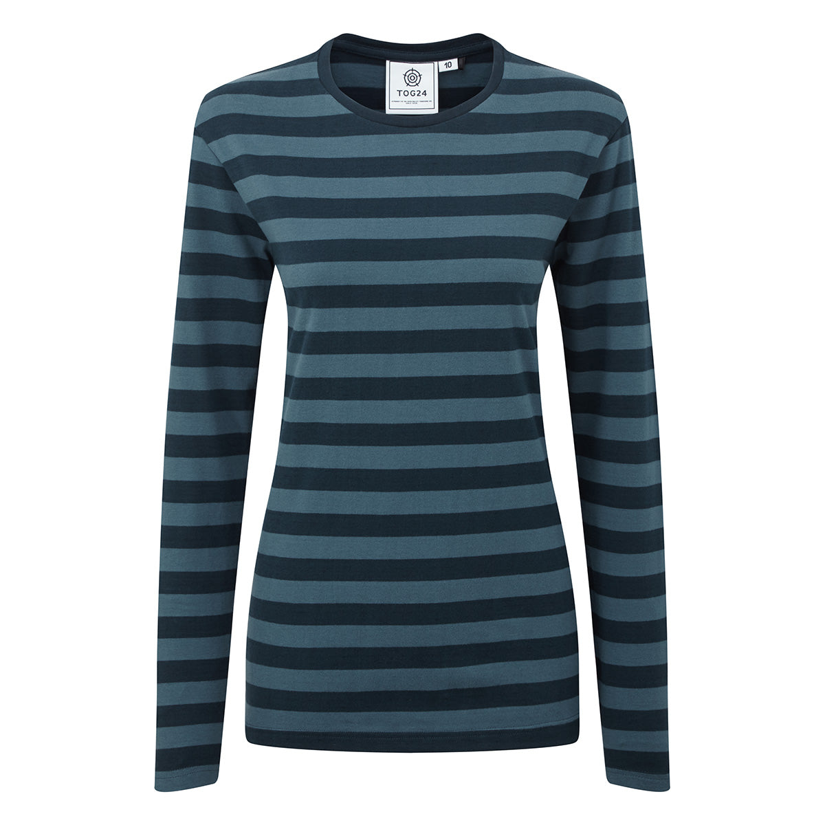 Holmfield Womens Long Sleeve Stripe T-Shirt - Navy image 4