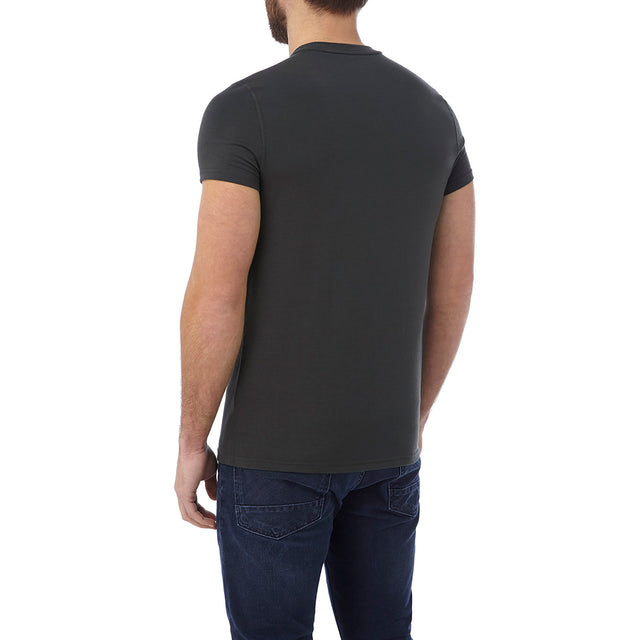 Hutton Mens Performance Graphic T-Shirt - Charcoal image 3