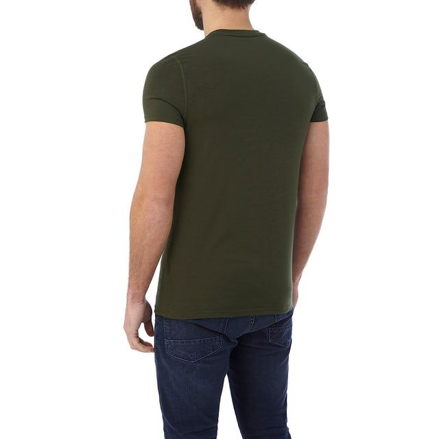 Hutton Mens Performance Graphic T-Shirt - Dark Khaki image 3