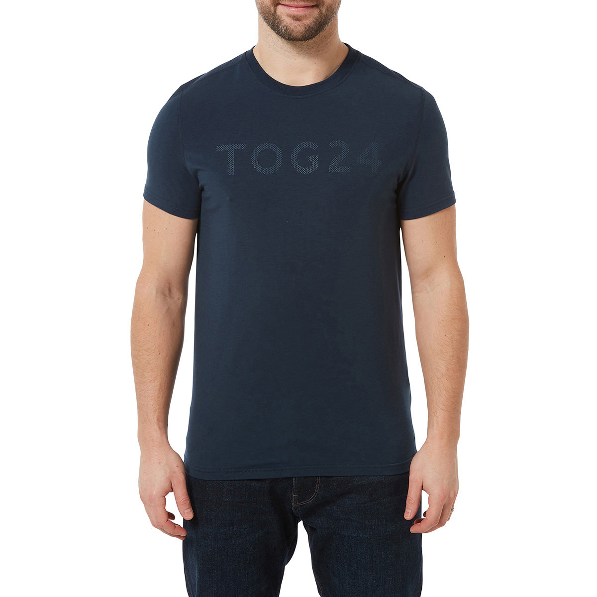 Hutton Mens Performance Graphic T-Shirt - Naval Blue