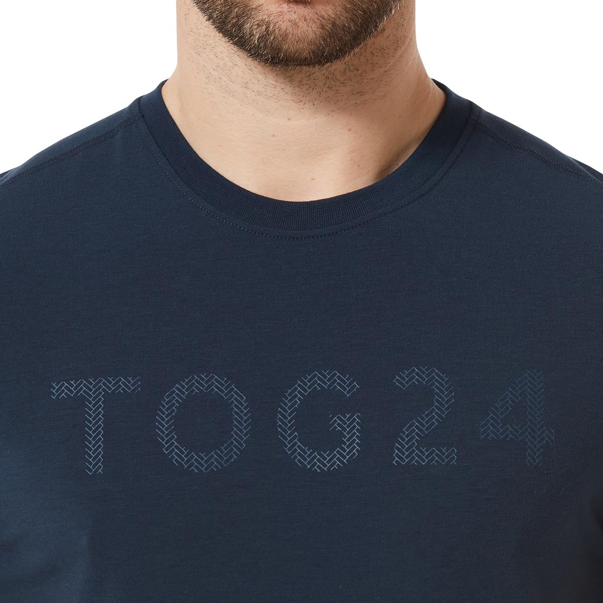 Hutton Mens Performance Graphic T-Shirt - Naval Blue image 4