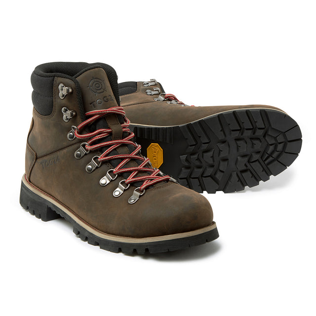 Ingleborough Mens Vibram Waterproof Boots - Chocolate/ Red image 1