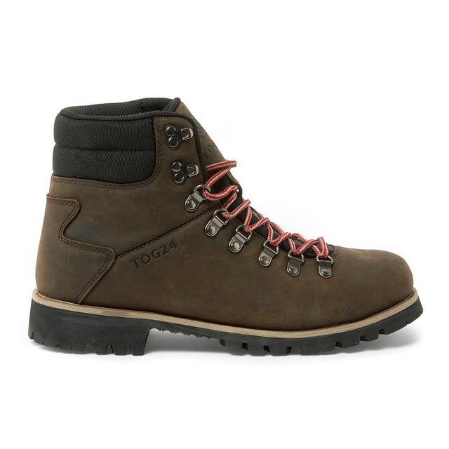 Ingleborough Mens Vibram Waterproof Boots - Chocolate/ Red image 2
