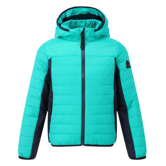 Jessie Kids Insulated Hybrid Jacket - Ceramic Blue/Navy image 1