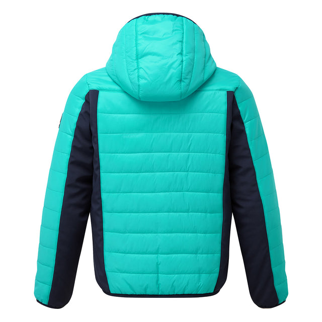 Jessie Kids Insulated Hybrid Jacket - Ceramic Blue/Navy image 2
