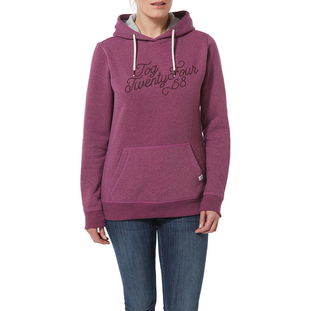Keele Womens Hoody Big Curly - Mulberry Marl image 2