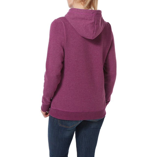 Keele Womens Hoody Big Curly - Mulberry Marl image 3