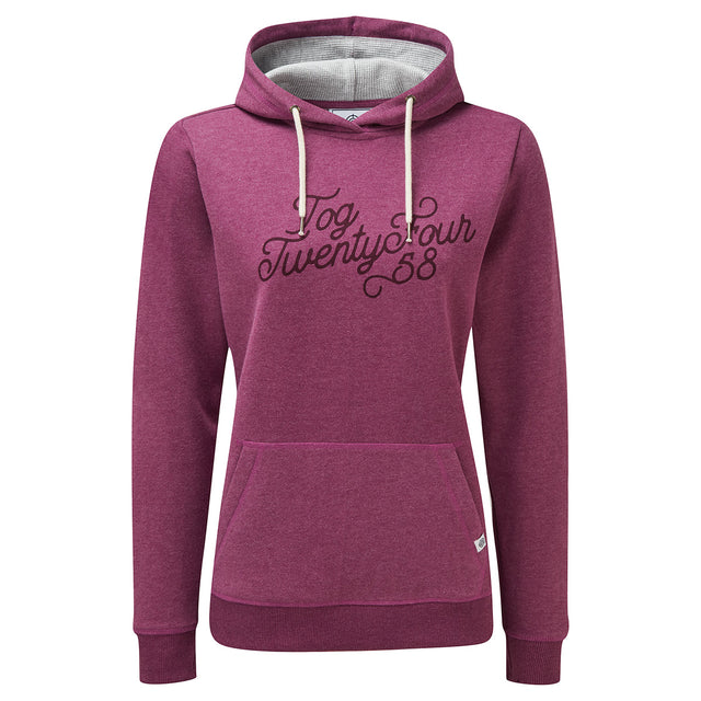 Keele Womens Hoody Big Curly - Mulberry Marl image 1